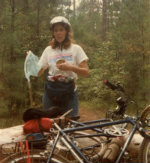 Sandra-Schmid-with-butterfly-net-and-bicycle-Columbia-SC-1987