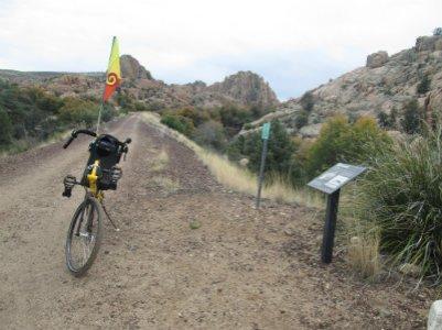Jim-Schmid's-Bacchetta-Giro-recumbent-on-Prescott-Peavine-Trail-AZ-4-7-2016