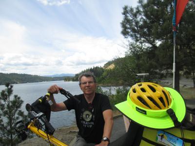 Jim-Schmid-with-Bacchetta-Giro-recumbent-on-Centennial-Trail-Coeur-d'alene-ID-5-11-2016
