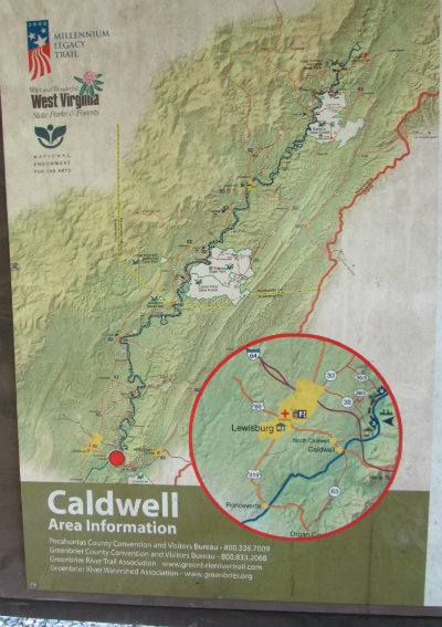 Caldwell_area_map_sign_Greenbrier-River-Trail-WV-06_21-24-2015