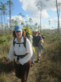 Sandra-Schmid-hiking-Florida-National-Scenic-Trail-Big Cypress-Preserve-backpack-trip-2013