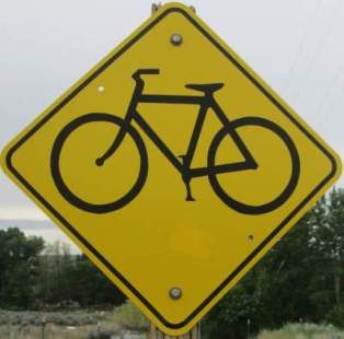Bike-symbol-sign-Boise-River-Greenbelt-ID-5-7-2016