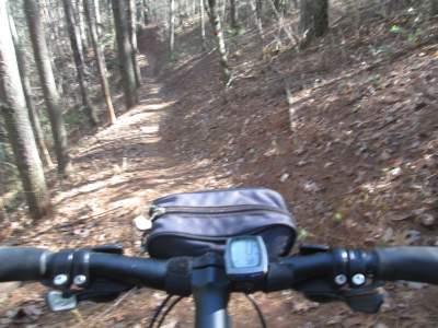 Jim-Schmid's-mtn-bike-Lake-James-State-Park-mtn-bike-trail-NC-2-6-2017