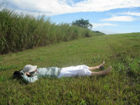 Sandra-Schmid-resting-Florida-Trail-Association-Big-O-Hike-Lake-Okeechobee-FL-2009