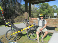 Jim-Schmid-sitting-with-Bacchetta-Giro-recumbent-on-Blackwater-Rail-Trail-FL-02-16-2016