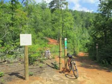 Jim-Schmid's-Trek-mtn-bike-Fire-Mtn-Trail-System-Cherokee-NC-7-19-17
