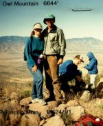 Sandra-and-Jim-Schmid-on-top-of-Owl-Mtn-Peak-Coronado-High-Peaks-hikes-AZ-1991-92