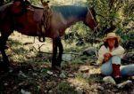 Sandra-Schmid-with-horse-Oracle-Ridge-ride-AZ-1992